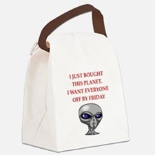 alien invasion Canvas Lunch Bag