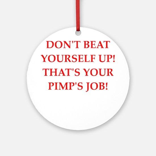 pimp Round Ornament
