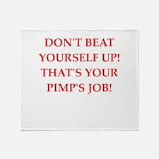 pimp Throw Blanket