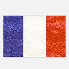 vintage flag of France Postcards (Package of 8)