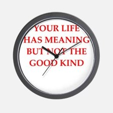 meaning Wall Clock
