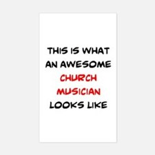 awesome church musician Sticker (Rectangle)