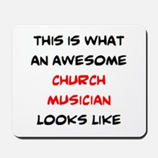 awesome church musician Mousepad