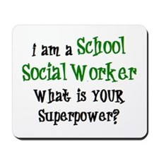 school social worker Mousepad