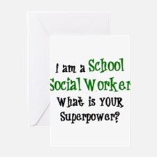 school social worker Greeting Card