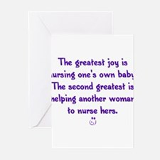 Funny Breastfeeding Greeting Cards (Pk of 10)