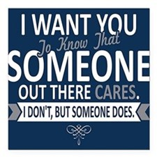 """I Want You To Know Square Car Magnet 3"""" x 3"""""""