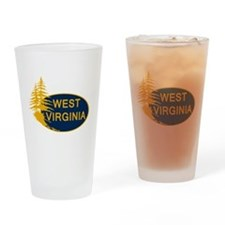 WVU Drinking Glass