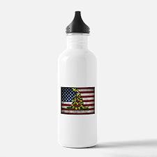 Molon Labe Flag Water Bottle