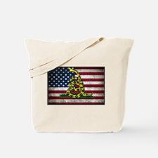 Molon Labe Flag Tote Bag