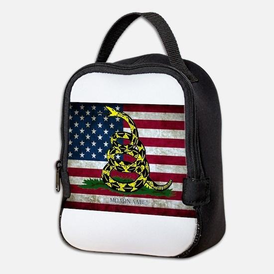 Molon Labe Flag Neoprene Lunch Bag