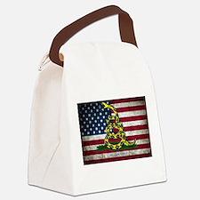 Molon Labe Flag Canvas Lunch Bag