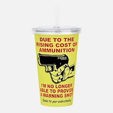 No Warning Shots Acrylic Double-wall Tumbler