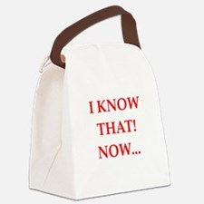 know Canvas Lunch Bag