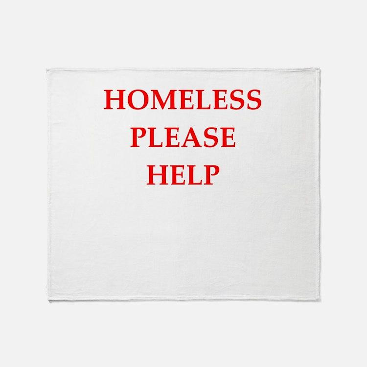 homeless Throw Blanket