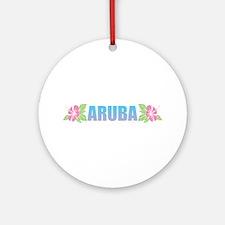 Aruba Design Round Ornament