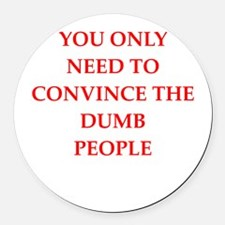 convince Round Car Magnet
