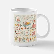 Shabby Chic Print Mugs