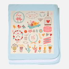 Shabby Chic Print baby blanket