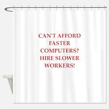 employer Shower Curtain