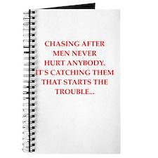 man chasing Journal