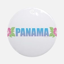 Panama Design Round Ornament