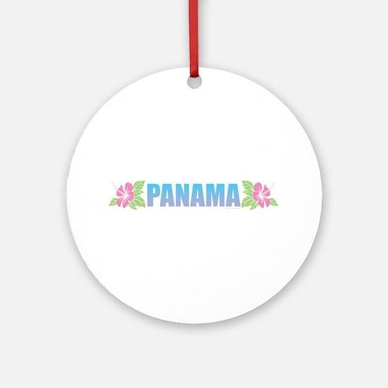 Panama Design Round Ornament