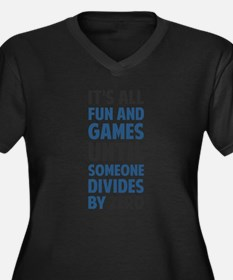Unique Geek Women's Plus Size V-Neck Dark T-Shirt