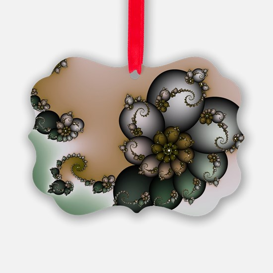Trinket Flower Fractal Ornament