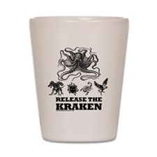 kraken and mythological beasts Shot Glass