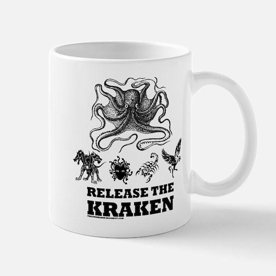 kraken and mythological beasts Mugs