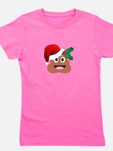 santa claus poop emoji Girl's Tee