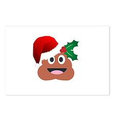 santa claus poop emoji Postcards (Package of 8)