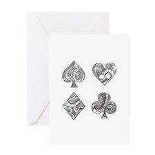 Ace, Spade, Diamond, Club Greeting Cards