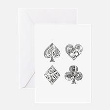 Ace, Spade, Diamond, Club Greeting Cards