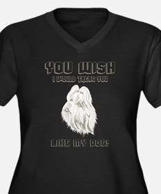 Shih Tzu Women's Plus Size V-Neck Dark T-Shirt
