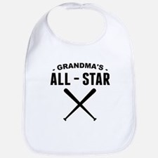 Grandmas All-Star Baseball Bib