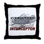 Interceptor Warning II Throw Pillow