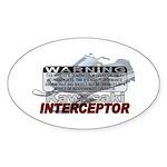 Interceptor Warning II Sticker (Oval)