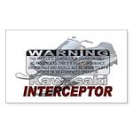 Interceptor Warning II Sticker (Rectangle)