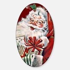 Vintage Santa Claus with many gifts Decal