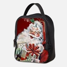 Vintage Santa Claus with many gifts Neoprene Lunch