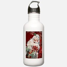 Vintage Santa Claus with many gifts Water Bottle