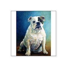 """Unique Bulldog dog Square Sticker 3"""" x 3"""""""