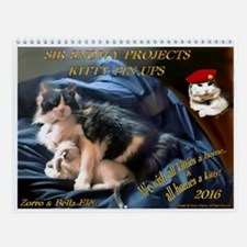 Sir Snowy Projects Kitty Pin-Up Wall Calendar