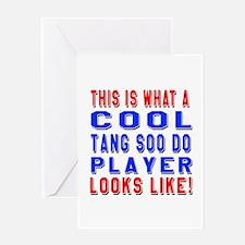 Tang Soo do martial arts player look Greeting Card