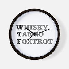 WTF - WHISKY,TANGO,FOXTROT Wall Clock