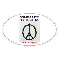 SOLIDARITE - PARIS 13.11.15 0 - TERROR ATT Decal