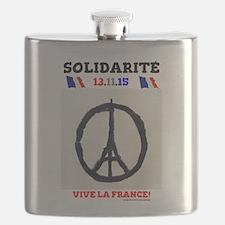 SOLIDARITE - PARIS 13.11.15 0 - TERROR ATTAC Flask