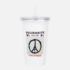 SOLIDARITE - PARIS 13. Acrylic Double-wall Tumbler